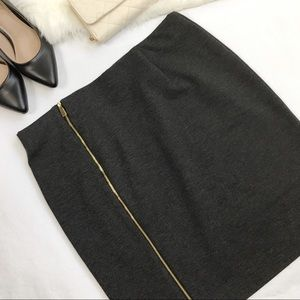 Vince Camuto Grey Front Zipper Pencil Skirt